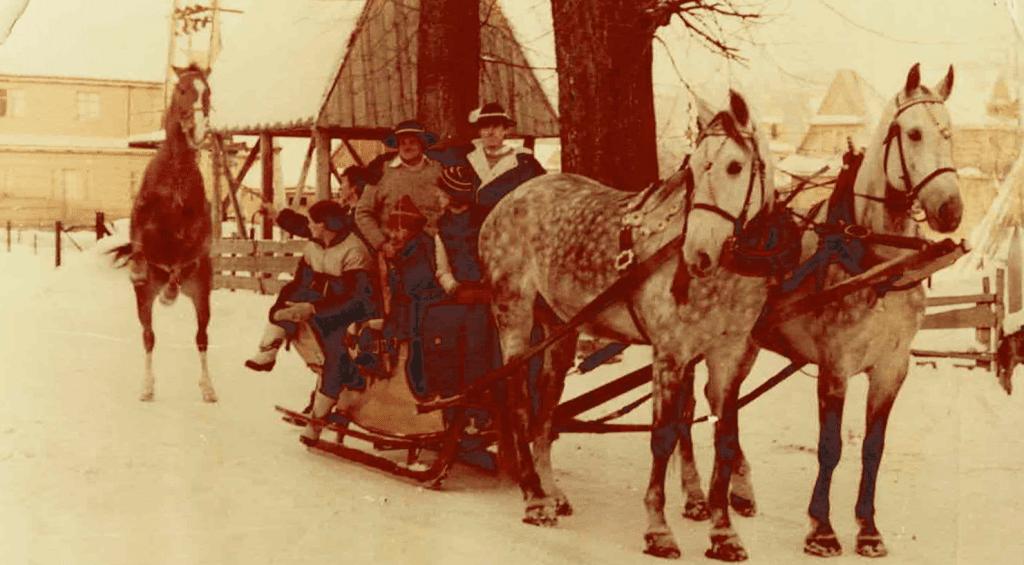 Zdjęcie historycznych kuligów